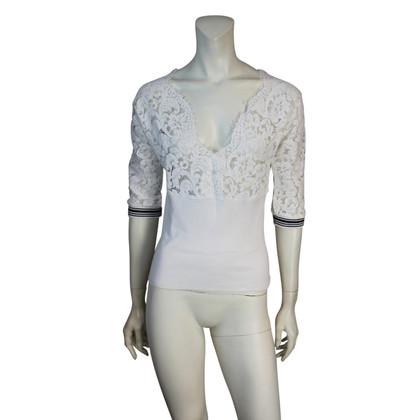 Twin-Set Simona Barbieri White blouse with lace