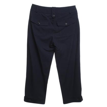 Luisa Cerano Dark blue trousers in 3/4 length