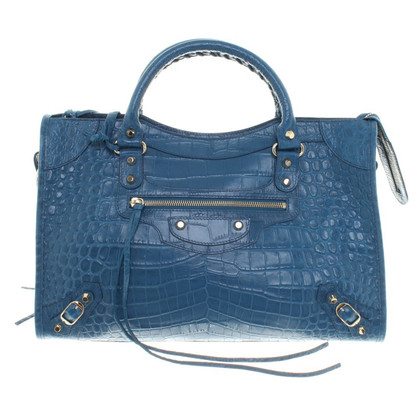 "Balenciaga ""Classic City Bag"" in Bleu Marine"