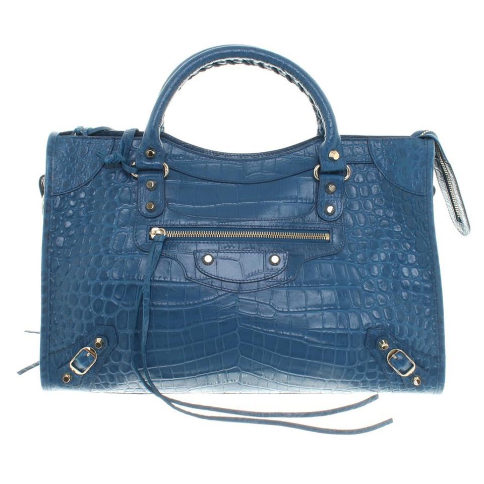 "Balenciaga ""Classic City Bag"" in Bleu Marine"