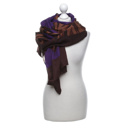 Yves Saint Laurent Multi-colored scarf with motif
