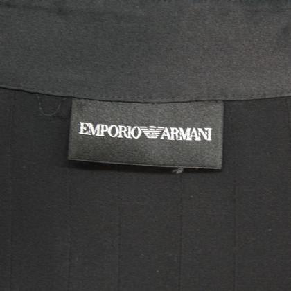 Armani Zijden blouse in zwart
