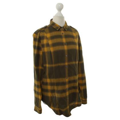 Burberry Plaid Shirt in yellow/khaki