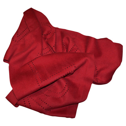 Louis Vuitton Scarf red 100% cashmere