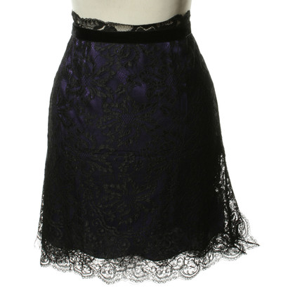 D&G Lace skirt in black and violet