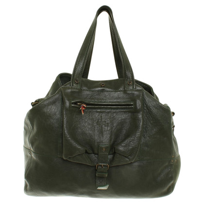 Jerome Dreyfuss Leather hand bag in green