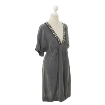 Sandro Silk dress in grey