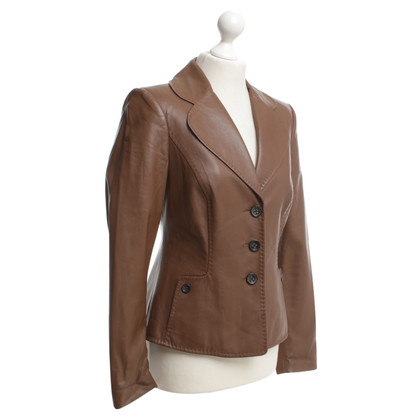 Escada Blazers en cuir à Brown