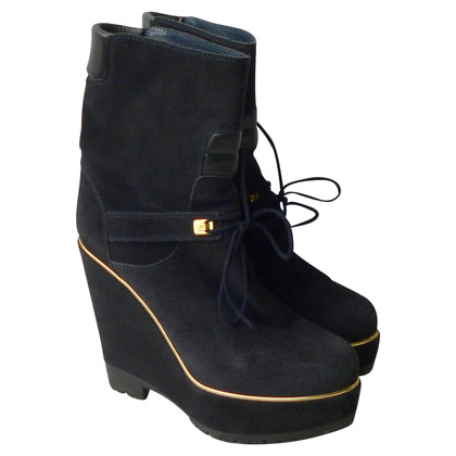 Sergio Rossi Ankle boots with wedge heel