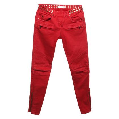 Pierre Balmain Jeans in het rood