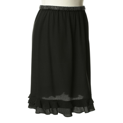 Gucci Silk skirt in black