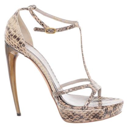 Alexander McQueen Sandals made of snakeskin