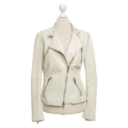 Alexander McQueen Leather jacket in beige
