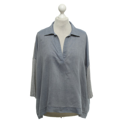 Max & Co Oversized Top in blauw / grijs