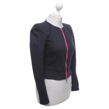 McQ Alexander McQueen Short jacket in dark blue / pink