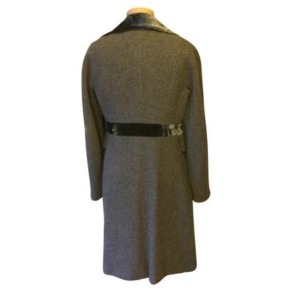 Marc Cain Wool coat with velvet