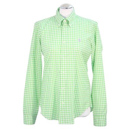 Ralph Lauren Geruite blouse in groen