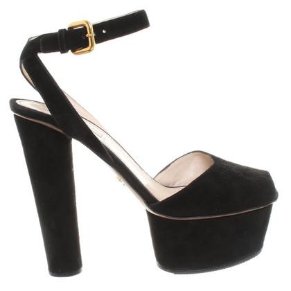 Prada Prada - Wild leather shoes in black