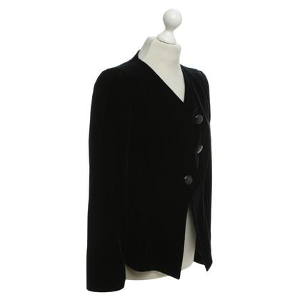 Armani Velvet giacca in blu scuro