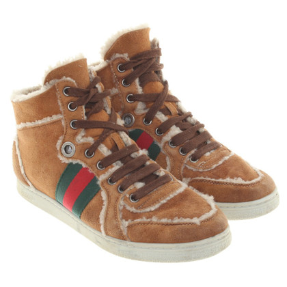Gucci Lined High Top Sneakers