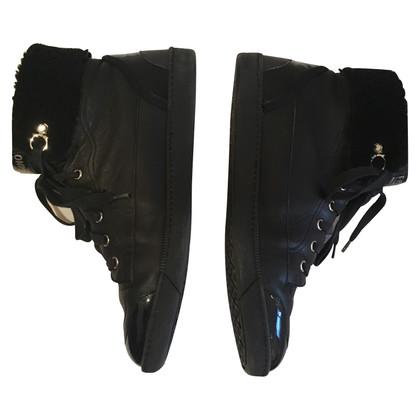 Salvatore Ferragamo Black high-top sneakers
