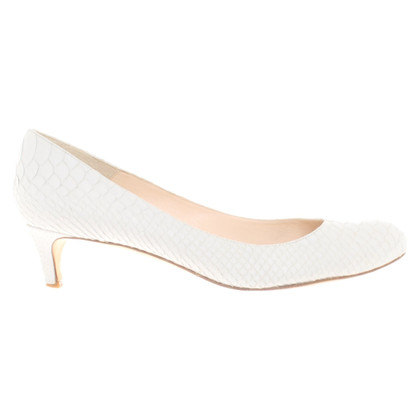 L.K. Bennett pumps in white