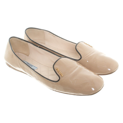 Prada Ballerinas in Nude