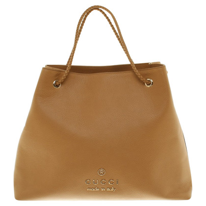 Gucci Shopper In Cognac