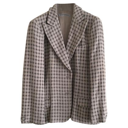 Armani Pale pink & grey blazer