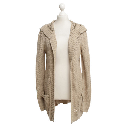 Michael Kors Lange Strickjacke in Beige