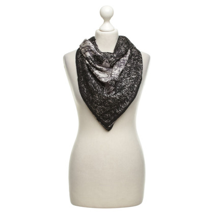 Bottega Veneta Silk scarf with lace trim