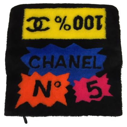 Chanel clutch with comic motif