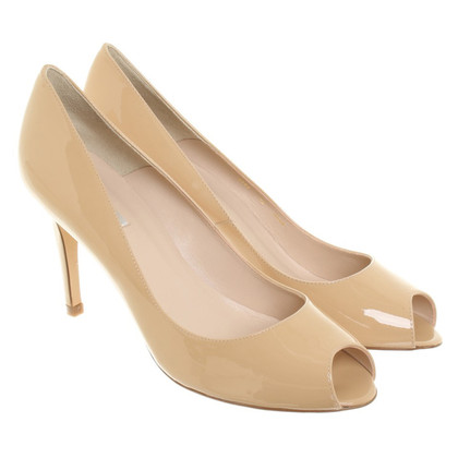 L.K. Bennett Peeptoe pumps in beige