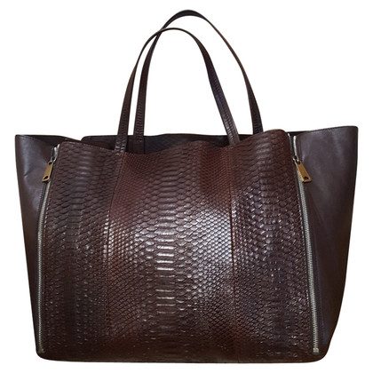 Céline Shopper with python leather