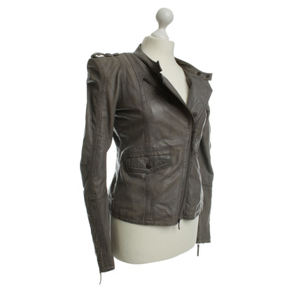 Drykorn Leather jacket in grey