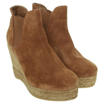 Navyboot Wedge ankle boots suede