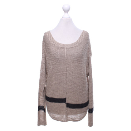 360 Sweater Pullover in Beige/Blau