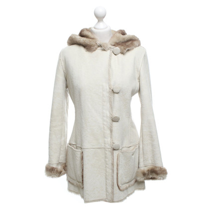 Armani Jeans Faux fur jacket in beige