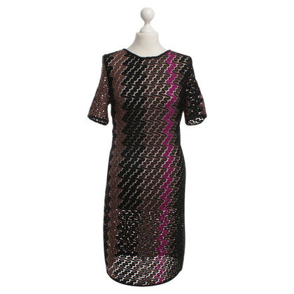 Missoni Crochet dress in black / pink