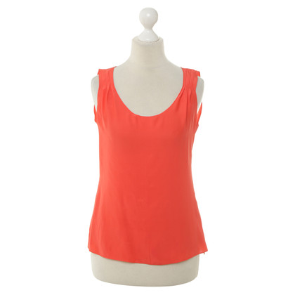 Natan Silk top in coral red