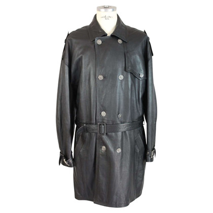 Gianni Versace Gianni Versace black leather trench