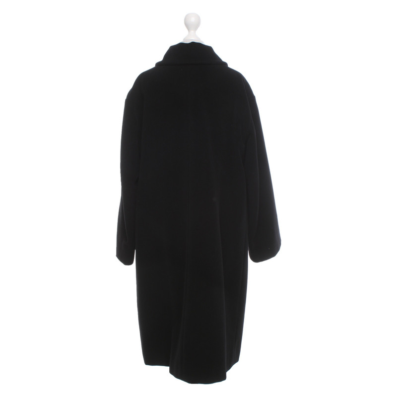 Jil Sander GiaccaCappotto in Lana in Nero Second hand Jil