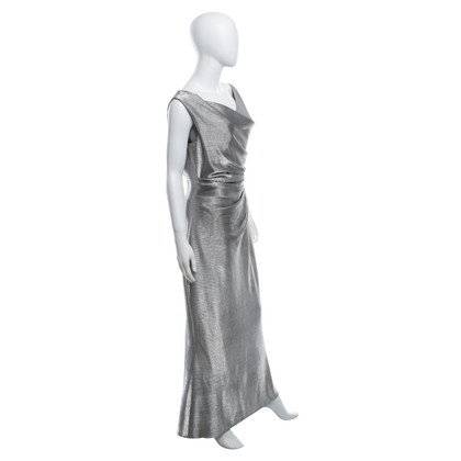 Talbot Runhof Dress in silver color