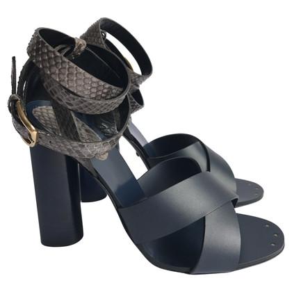 Gucci Blue python Gucci sandals