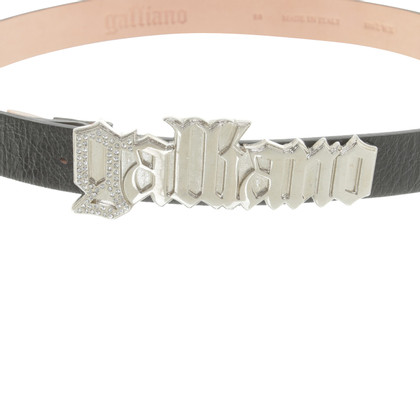 John Galliano Belt with logo clasp