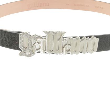 John Galliano Cintura con fibbia logo