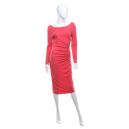 L.K. Bennett Dress in coral red