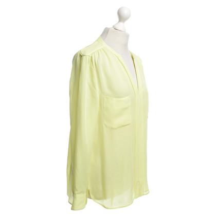 Laurèl Gele zijden blouse