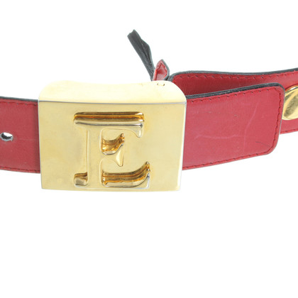 Escada Red leather belt