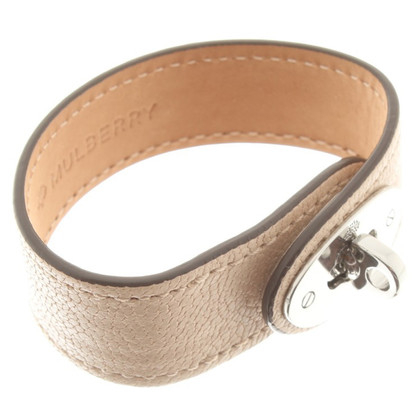 "Mulberry Leather bracelet ""Eliza"" in beige"